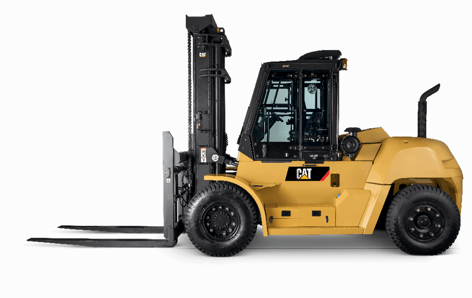 Side View of a Cat IC Pneumatic Diesel Forklift