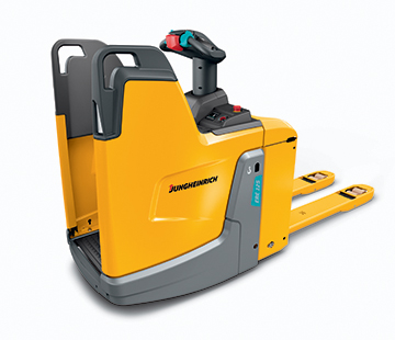 Profile View of a Jungheinrich Electric Powered Pallet Truck