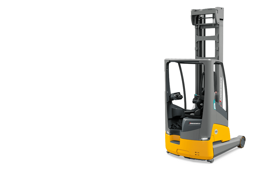 Integrated Lithium-Ion Sit-Down Moving Mast Reach Truck