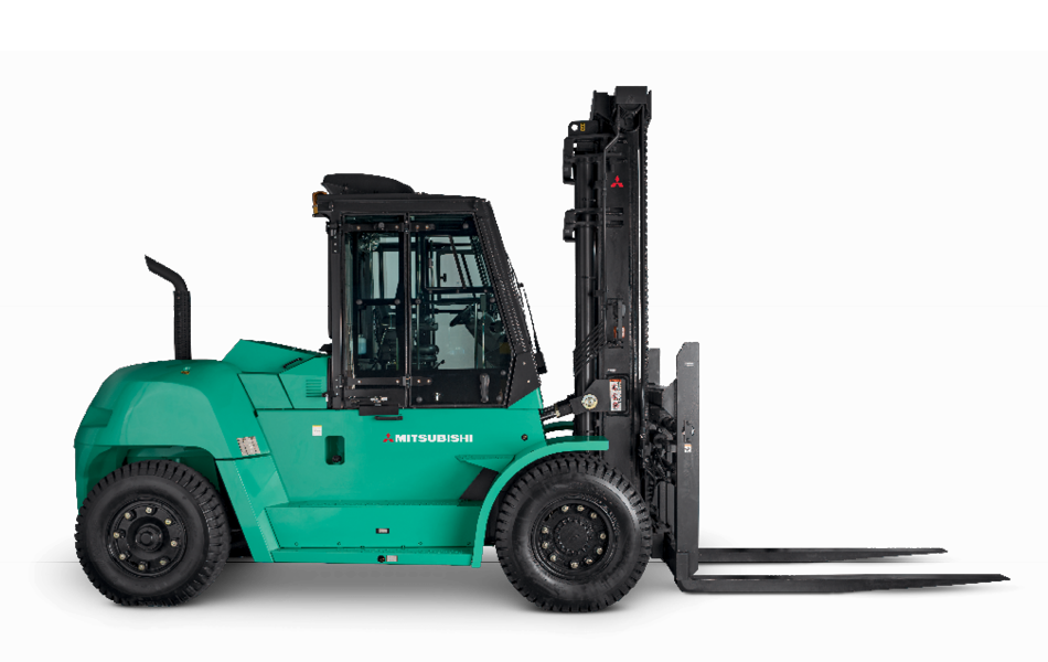 Profile View of a Mitsubishi FD100N-FD160AN Heavy Duty Forklift