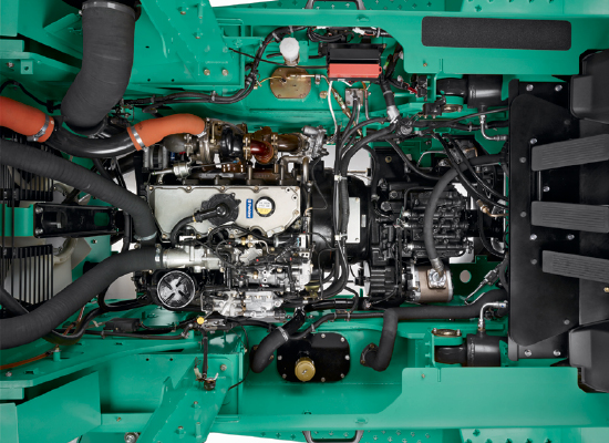 Overview of a Mitsubishi FD100N-FD160AN's Engine