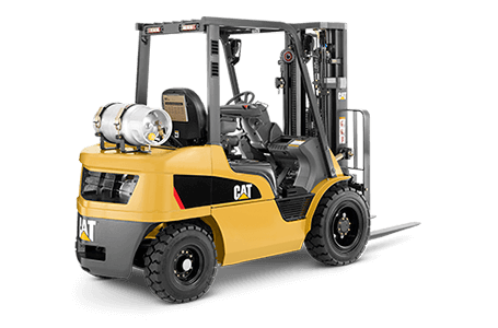 Full View of a CAT Counterbalanced Forklift