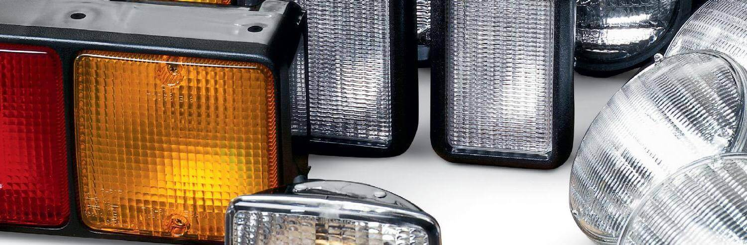 Closeup of Assorted Cat Forklift Lights