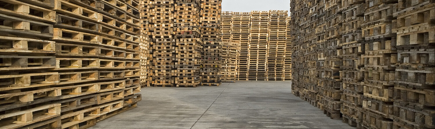 Stacks of Pallets Outdoors