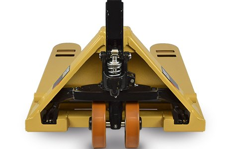 Safety features of a Cat pallet jack