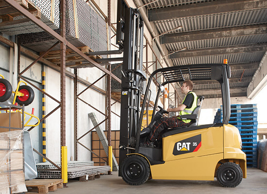 High reach forklift