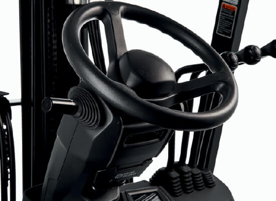 Steering wheel of Cat small electric cushion forklift