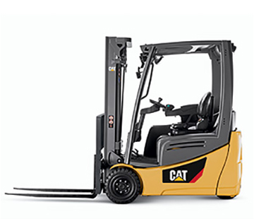 Cat Electric Pneumatic Tire Forklift Sideview