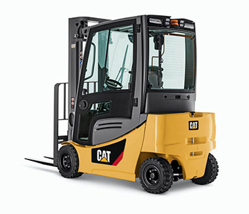 Midsize Electric Pneumatic Counterbalanced Forklift Sideview
