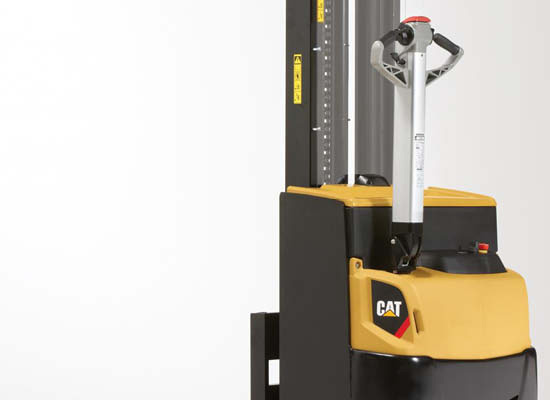 Front view of Cat pedestrian stacker in gray background