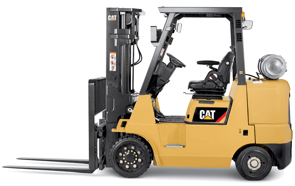 Cat cushion tire IC forklift side view