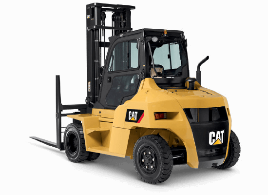 Cat DP70N diesel forklift being serviced
