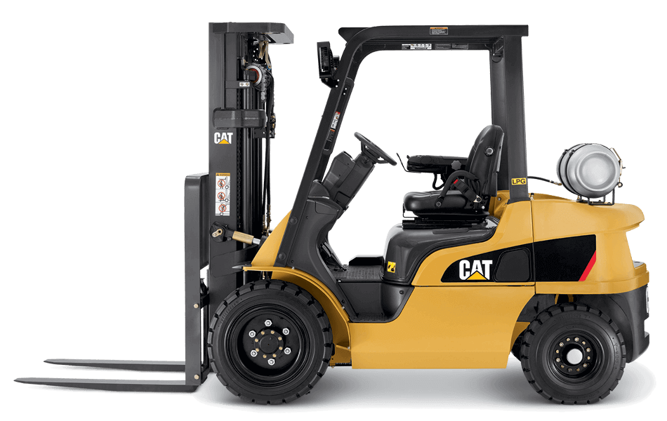 Side View of a CAT GP15N Lift Truck