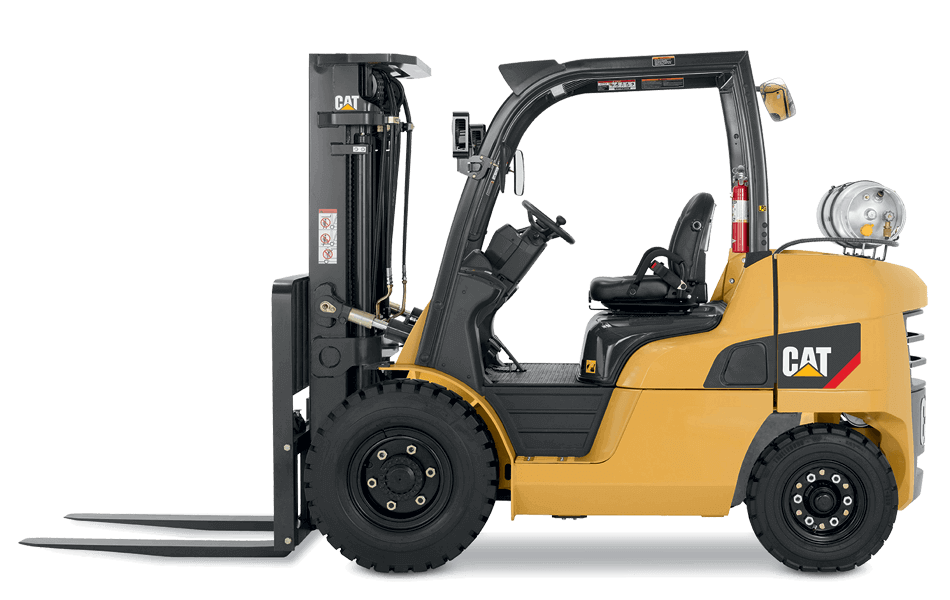 Cat pneumatic tire IC lift truck side view