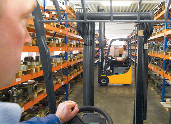 Forklift operator point of view