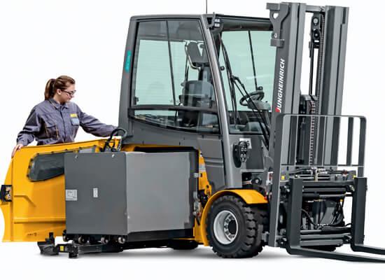 Electric Forklift Jungheinrich Erv308: Electric Four-Wheel Forklifts 5000-6500lb