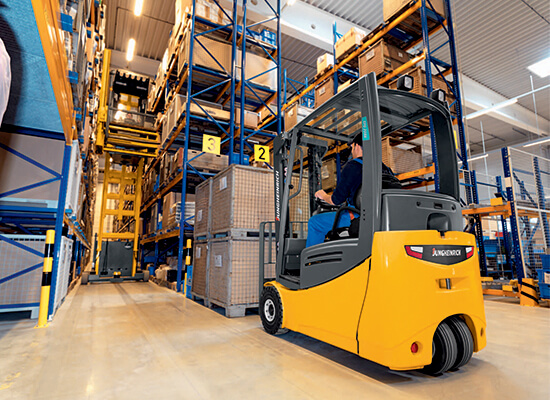 Electric Forklift Jungheinrich Erv308: 3-Wheel Electric Counterbalance Truck