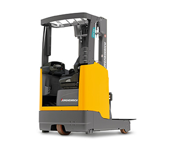 Jungheinrich ETV110 moving mast reach truck