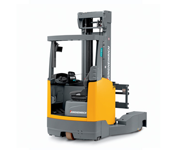 A Jungheinrich ETV Q20 - Q25 Moving Mast Reach Truck