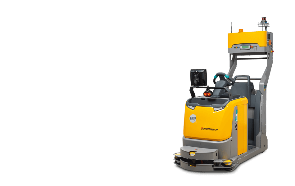 automated towing vehicle profile view - Jungheinrich ezs350