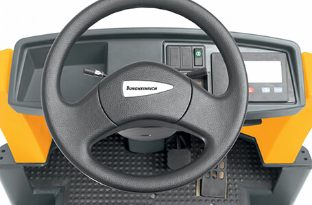 Steering wheel of Jungheinrich forklift