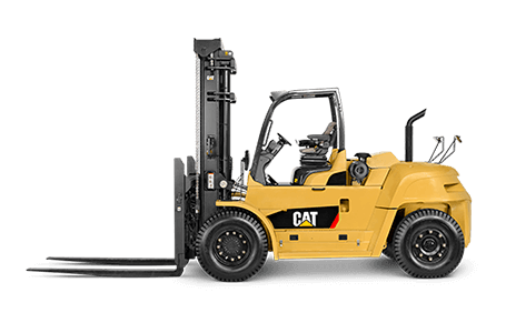 Left side view of Cat lift truck