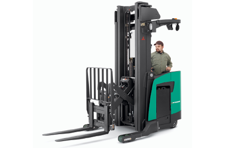 MCFA employee driving forklift