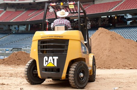 Cat lift truck at rodeo