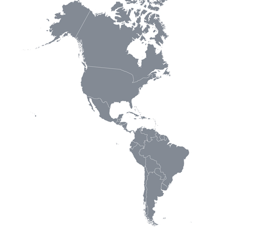 MCFA North and South America Map