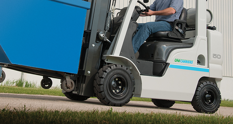 unicarriers forklift tires going uphill