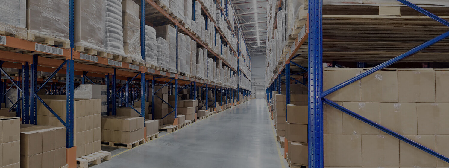Merchandise Placed on Racks Inside a Warehouse