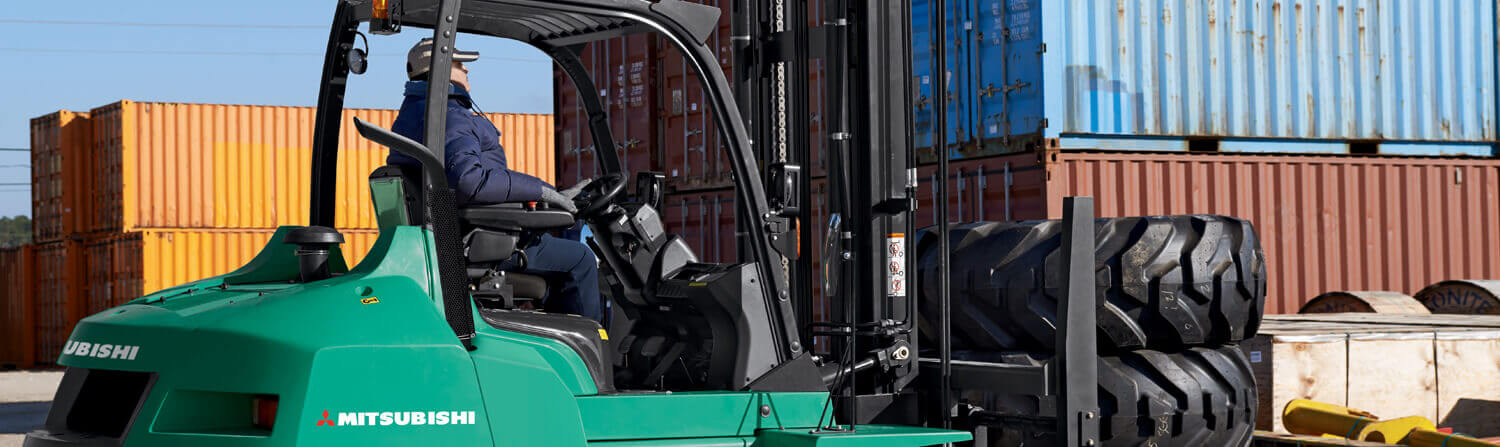 Fleet of Mitsubishi forklift trucks
