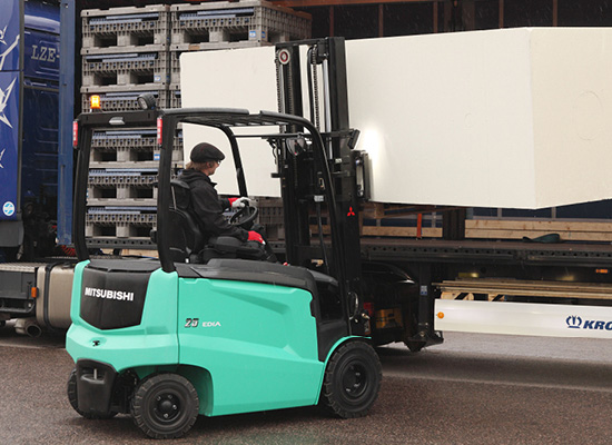 Mitsubishi FB25N Forklift Working Outdoors