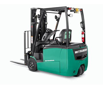 Profile View of a Mitsubishi FB16PNT Forklift