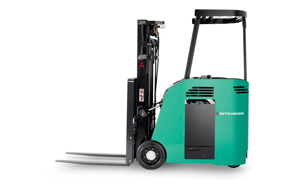 Mitsubishi electric stand-up end control forklift side view