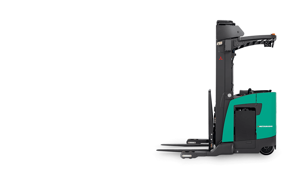 Side view of Mitsubishi pantograph reach truck