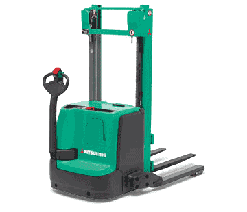 Product selection image of Mitsubishi heavy-duty walkie stacker