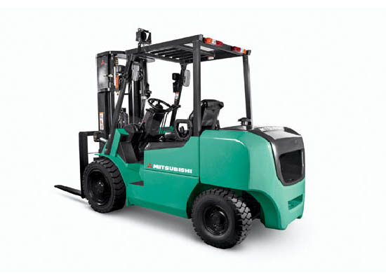 Full view of Mitsubishi pneumatic lift truck