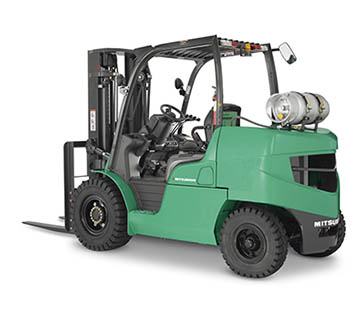 Profile View of a Mitsubishi FG40NM Forklift