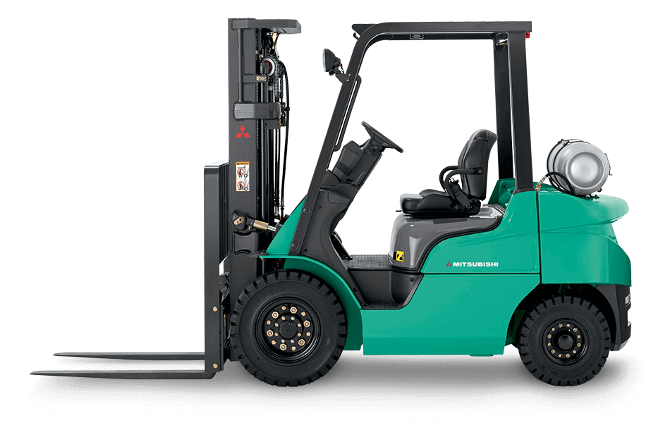 Profile View of a Mitsubishi FG15N Forklift